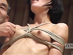CFNM Japanese taste big cock before he lets her do it to pieces