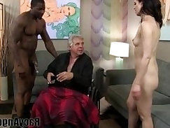 Cuckold MILF loves to watch straight dick being banged on right