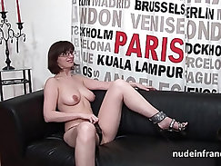 Busty amateur casting bitch has her anus teased