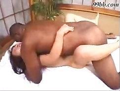 Asian enjoys her way with a big black dick
