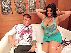 Hot Angelina Castro uses her huge booty to fuck her