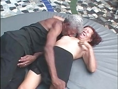 Cheating grandpa takes workers cock