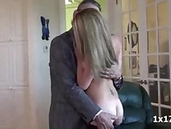 Blonde babe pounded by her stepfather