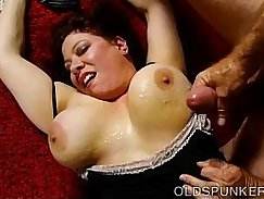 Chubby big tits milf leaves home with her younger lover for some money