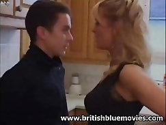 British curvy milf in stockings Kate gets analfucked