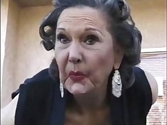 Bubble butt granny from Jordan in smoking and fucked