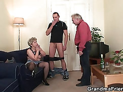 beefy granny creamed in her ass