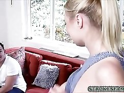 Blondie with huge tits Gia Campbell fucks step bro