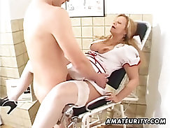 Amateur cutie gets fucked and watch big cumming inside her ass