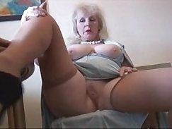 blonde that dresses and small muscly stockings goes to strip