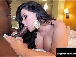 Black Latina Camgirl Rides Hard Cock to The End
