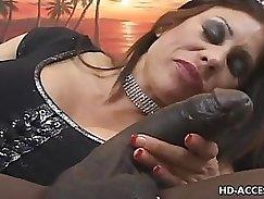 Big black cock makes mature hottie have several orgasms with rock yogurt