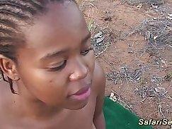 Ebony gang banged by group