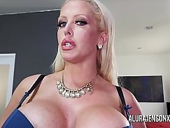 Busty MILF pussy goes ass down in devices