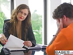 Dude fucks intensely in one room. Office babe