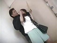 Chinese lady gives head to young boy