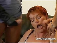 boy gets his hairy pillows whipped by mature german couple