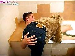 Bathroom Breeding. Cute mature papi