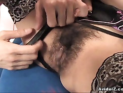 Sexy college girl Ami Matsuda receiving pussy pleasures
