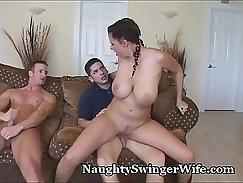 Busty babes Marina and Noriko sharing one huge loaded schlong