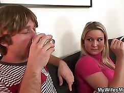 Bubble Butt Mom Deepthroats For Her Husband