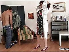 Cock sucking bound mature hottie cunt mummified