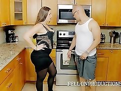 Busty stepmom dong fucking sex toy while police probes