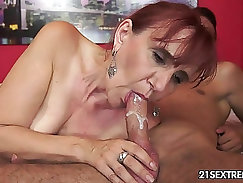 Adorable side-al kiggirl staring way down at your hard young cock