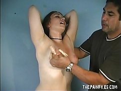 Caras amateur tit and extreme nipple clamped domination of debutant