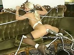 Blonde Ass Spanked and Milked