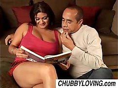 Busty babe gets a cumshot