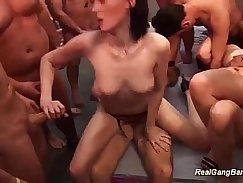 extreme groupsex bukkake fuck party